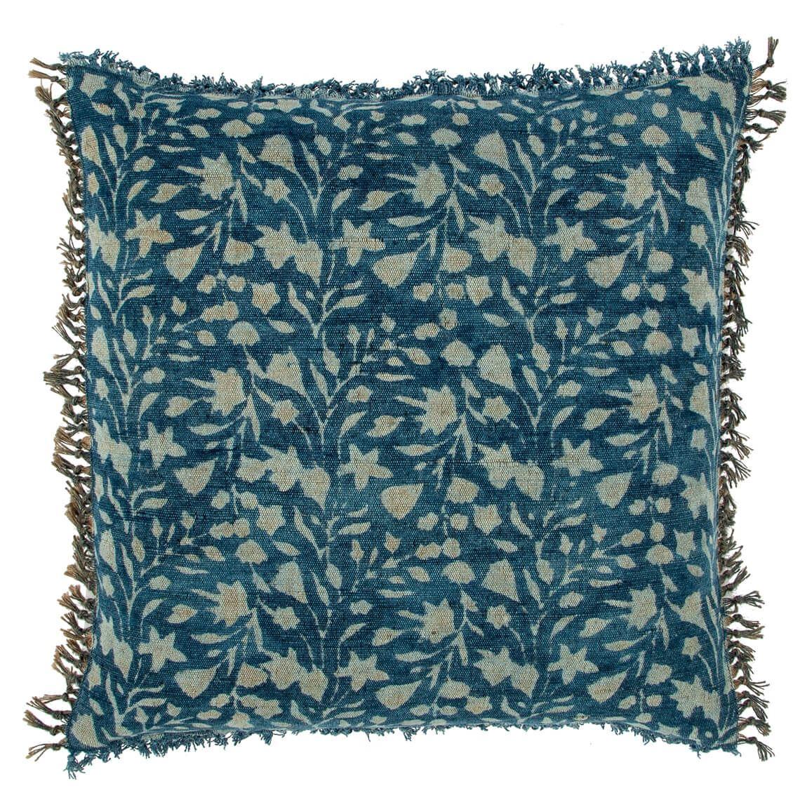 Celino Cushion Size W 50cm x D 50cm x H 14cm in Indigo Freedom