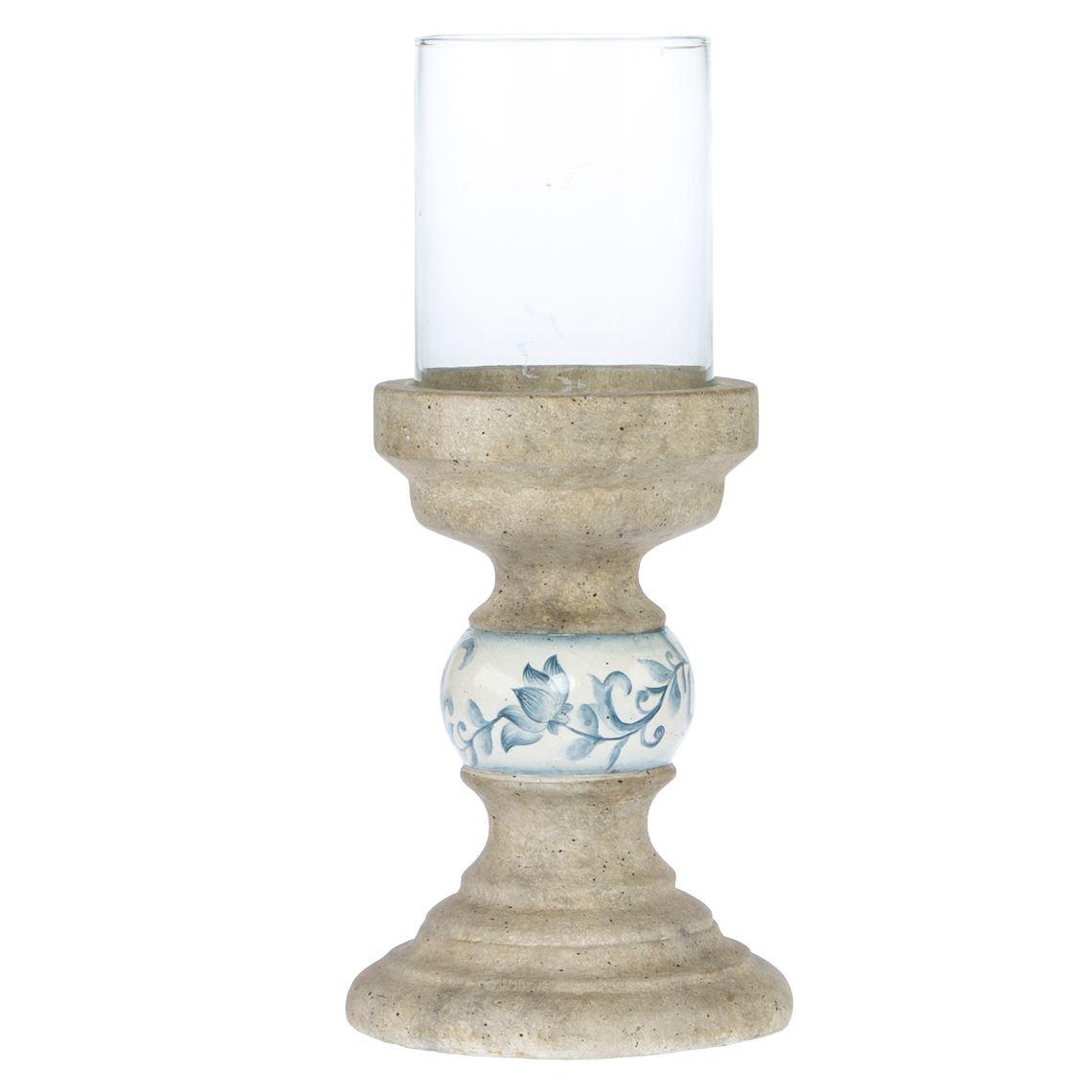 Tokiko Lantern Cream / Blue Size W 18cm x D 18cm x H 18cm in Cream/Blue Freedom
