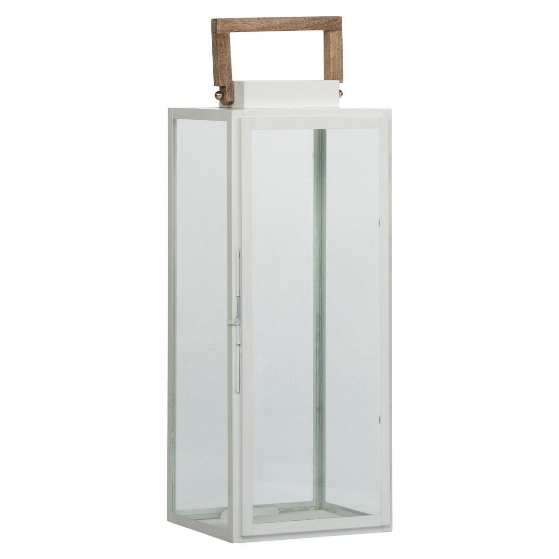 Marella Lantern Size W 21cm x D 17cm x H 53cm in White Freedom