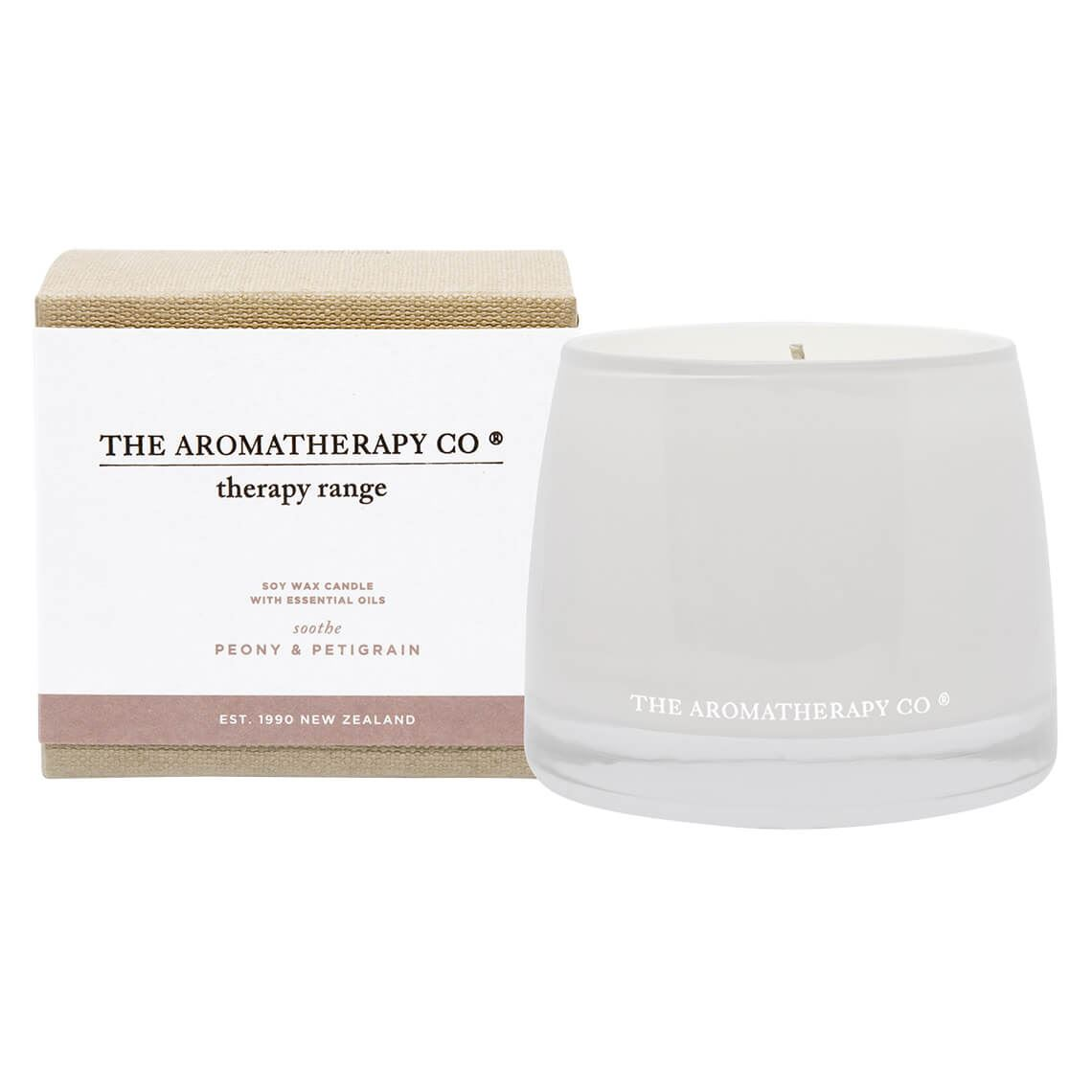 Therapy Candle Peony And Petitgrain Size W 11cm x D 11cm x H 10cm Freedom