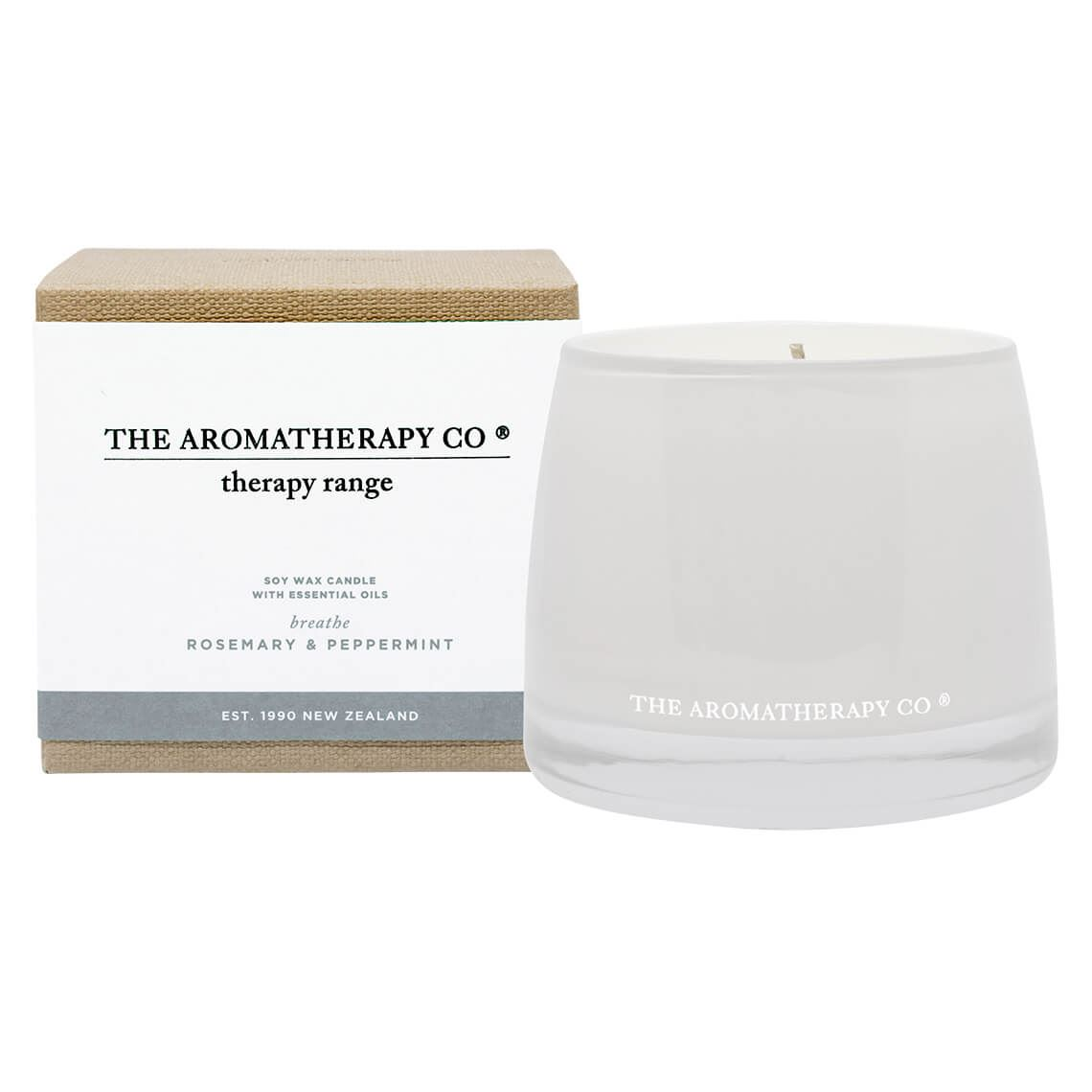 Therapy Candle Rosemary And Peppermint Size W 11cm x D 11cm x H 10cm in Rosemary/Peppermint Freedom