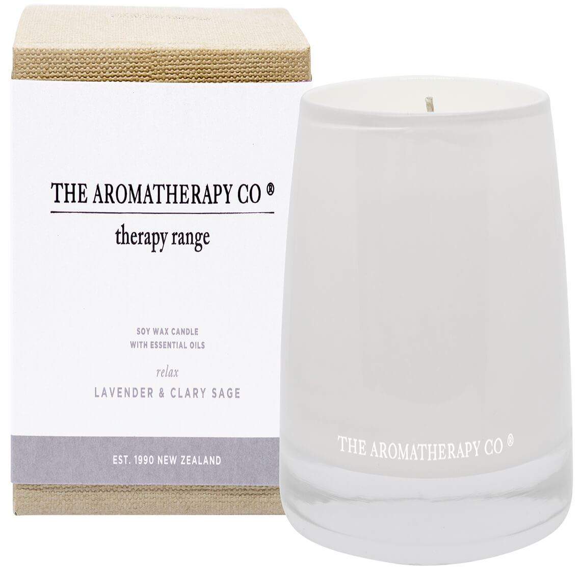Therapy Candle Lavender And Clary Sage Size W 11cm x D 11cm x H 10cm in Lavender/Clary Sage Freedom
