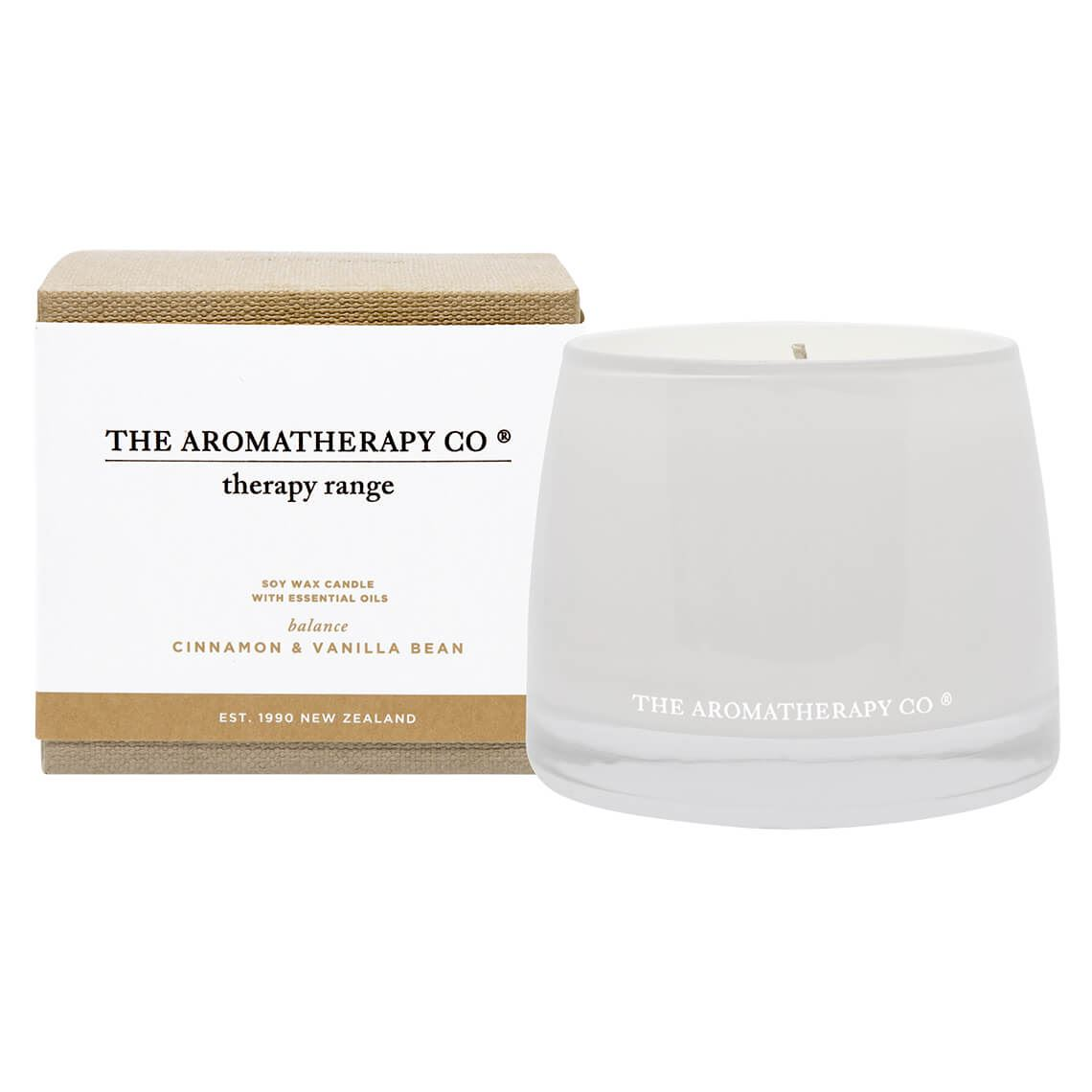 Therapy Candle Size W 11cm x D 11cm x H 10cm in Cinnamon Vanilla Bean Freedom