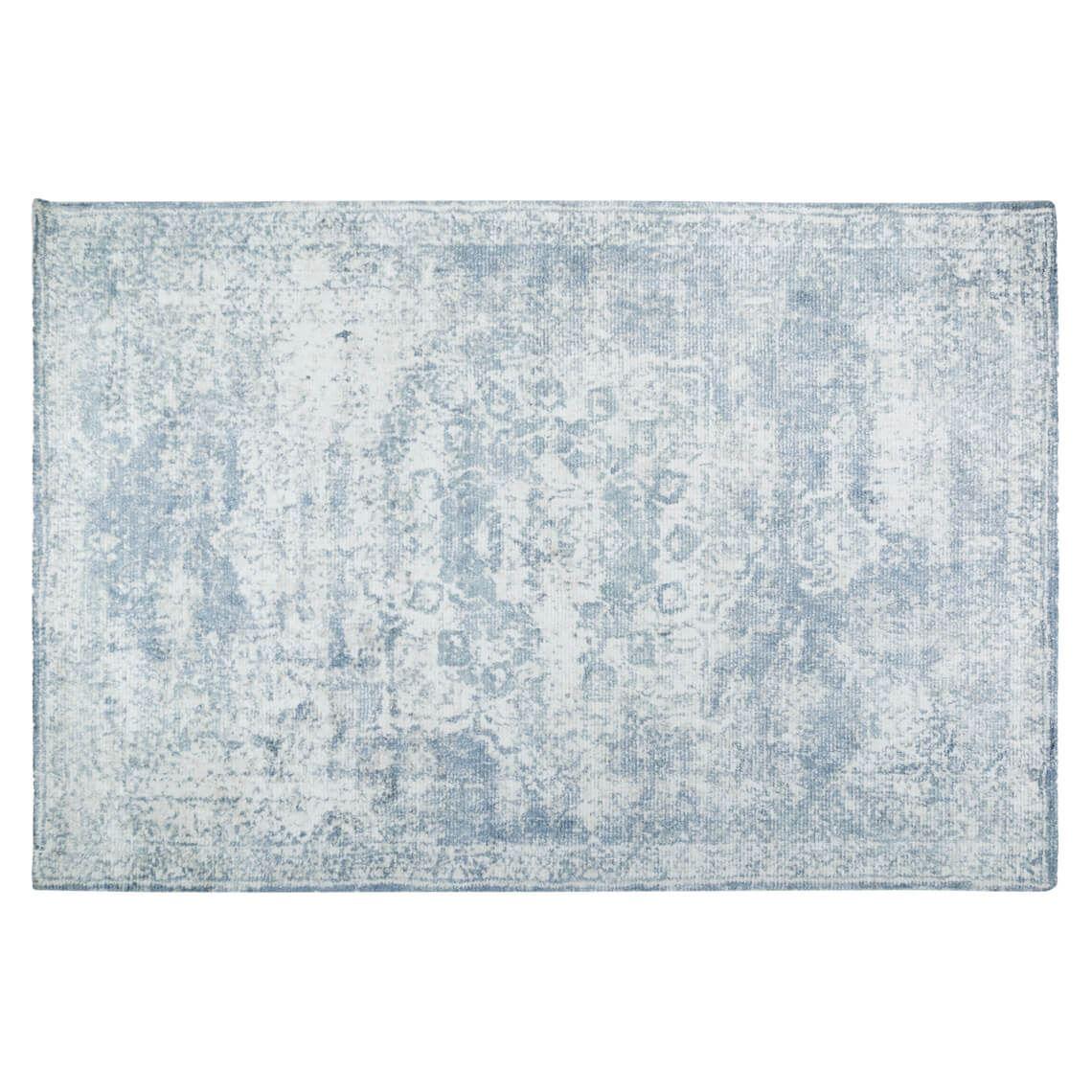Naida Floor Rug Size W 200cm x D 300cm x H 1cm in Grey Wool/Viscose Freedom
