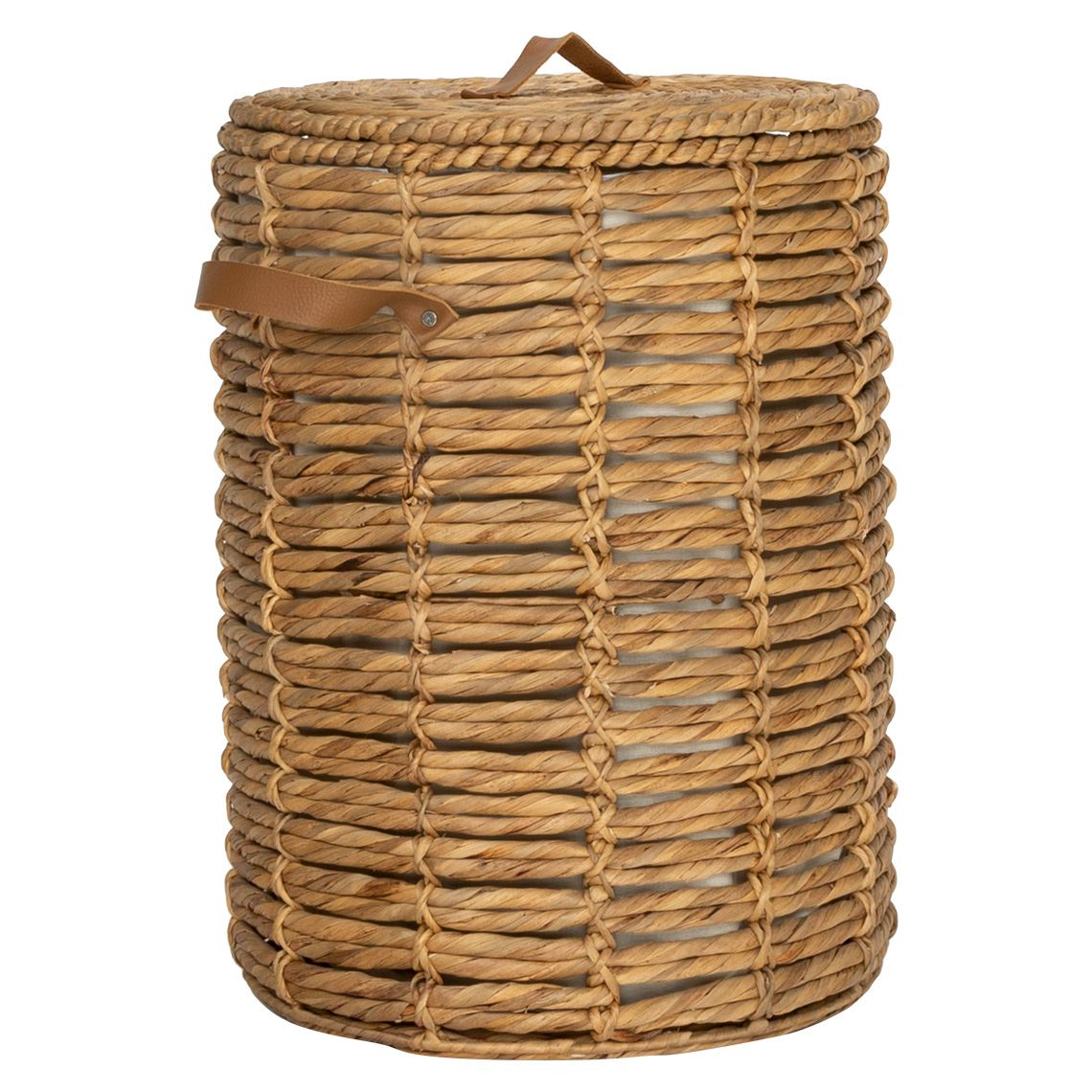 Waslin Laundry Hamper Size W 44cm x D 44cm x H 60cm in Natural Freedom
