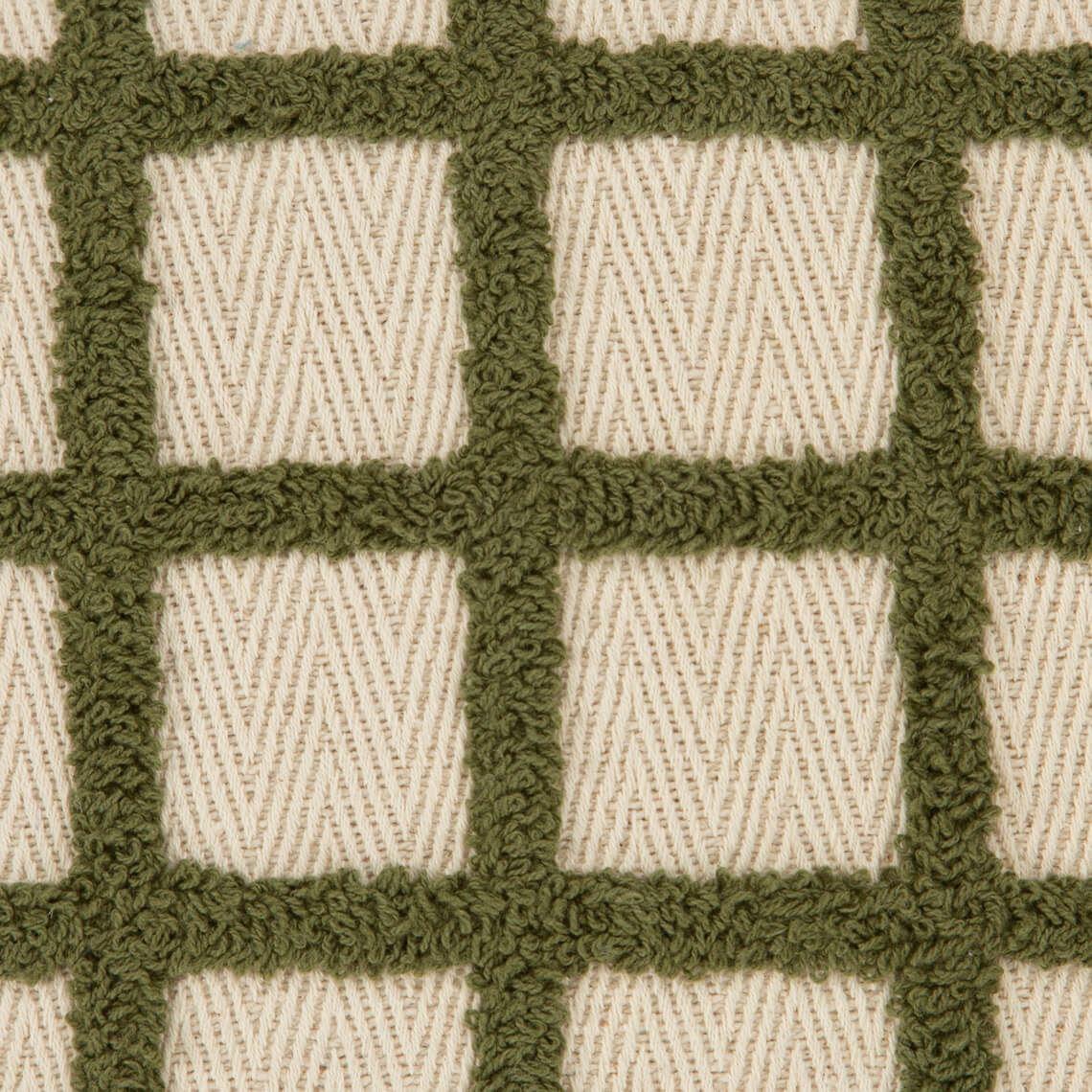 Janis Cushion Size W 50cm x D 50cm x H 10cm in Olive 100% Cotton Freedom