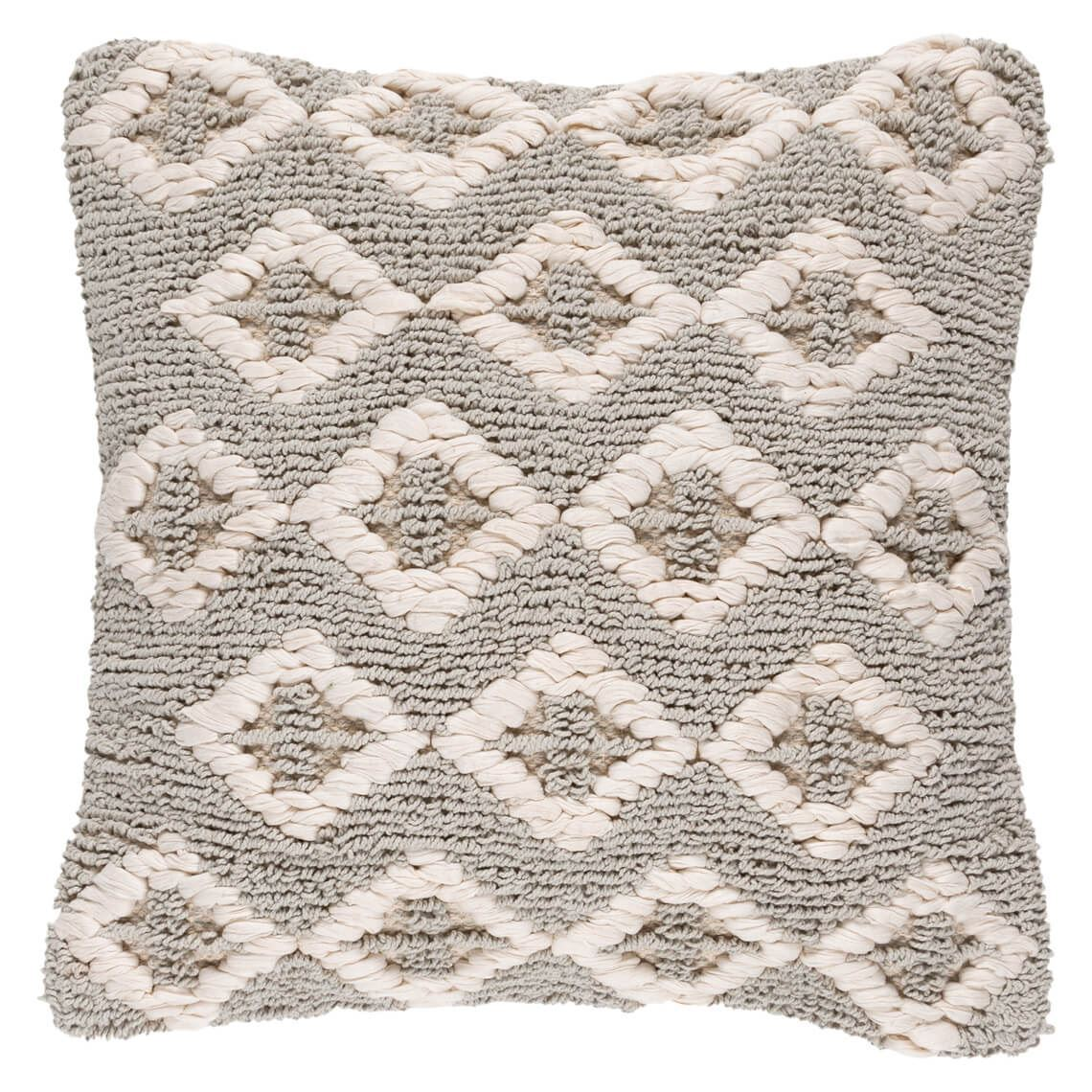 Metyme Cushion Size W 50cm x D 10cm x H 50cm in Natural/Grey Freedom