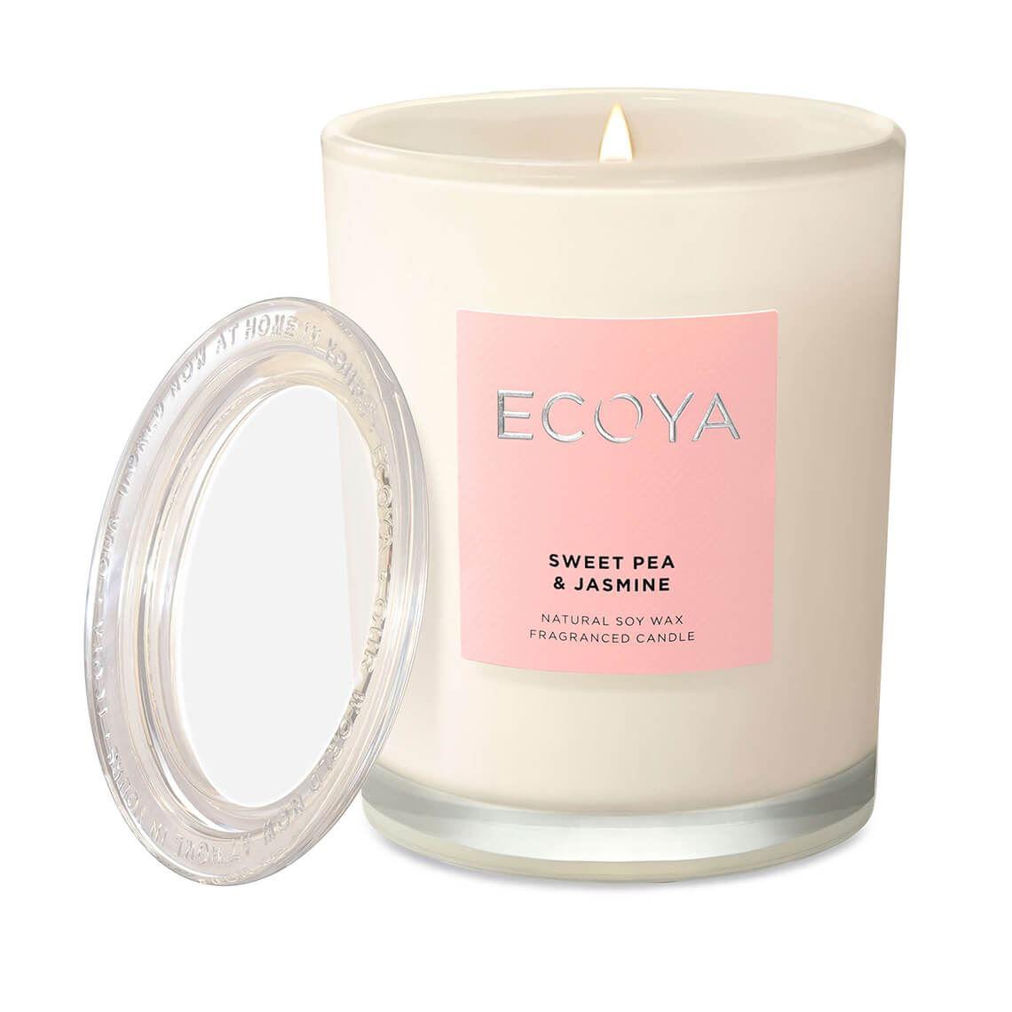 Ecoya Metro Jar Sweet Pea & Jasmine Size W 8cm x D 8cm x H 11cm in Sweet Pea/Jasmine Freedom