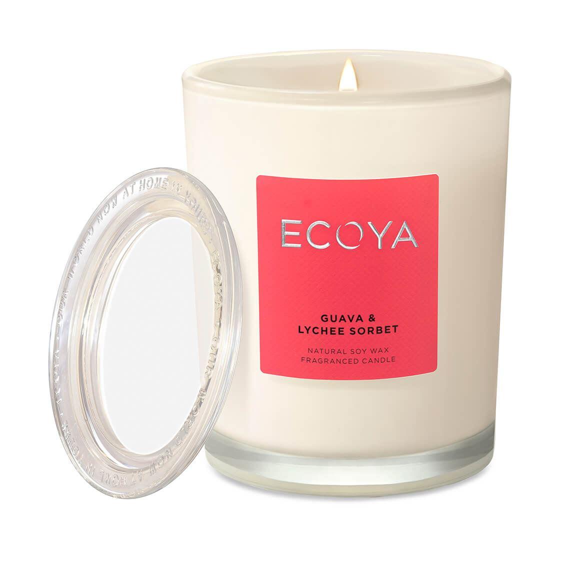 Ecoya Metro Jar Guava & Lychee Size W 8cm x D 8cm x H 11cm in Guava/Lychee Freedom