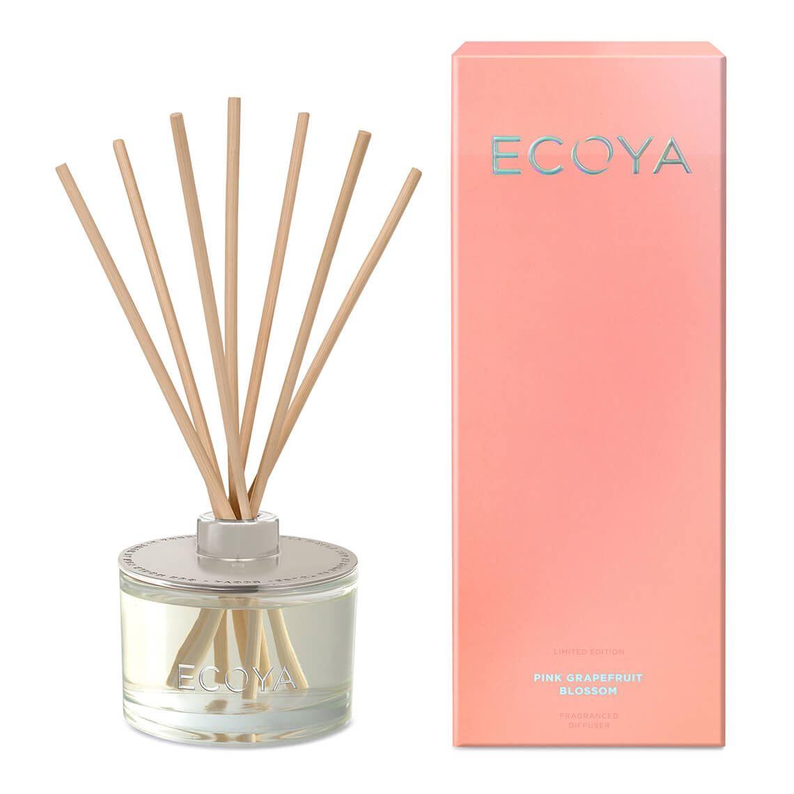 Ecoya Reed Diffuser Size W 10cm x D 10cm x H 26cm in Pink Grapefruit Blossom Freedom