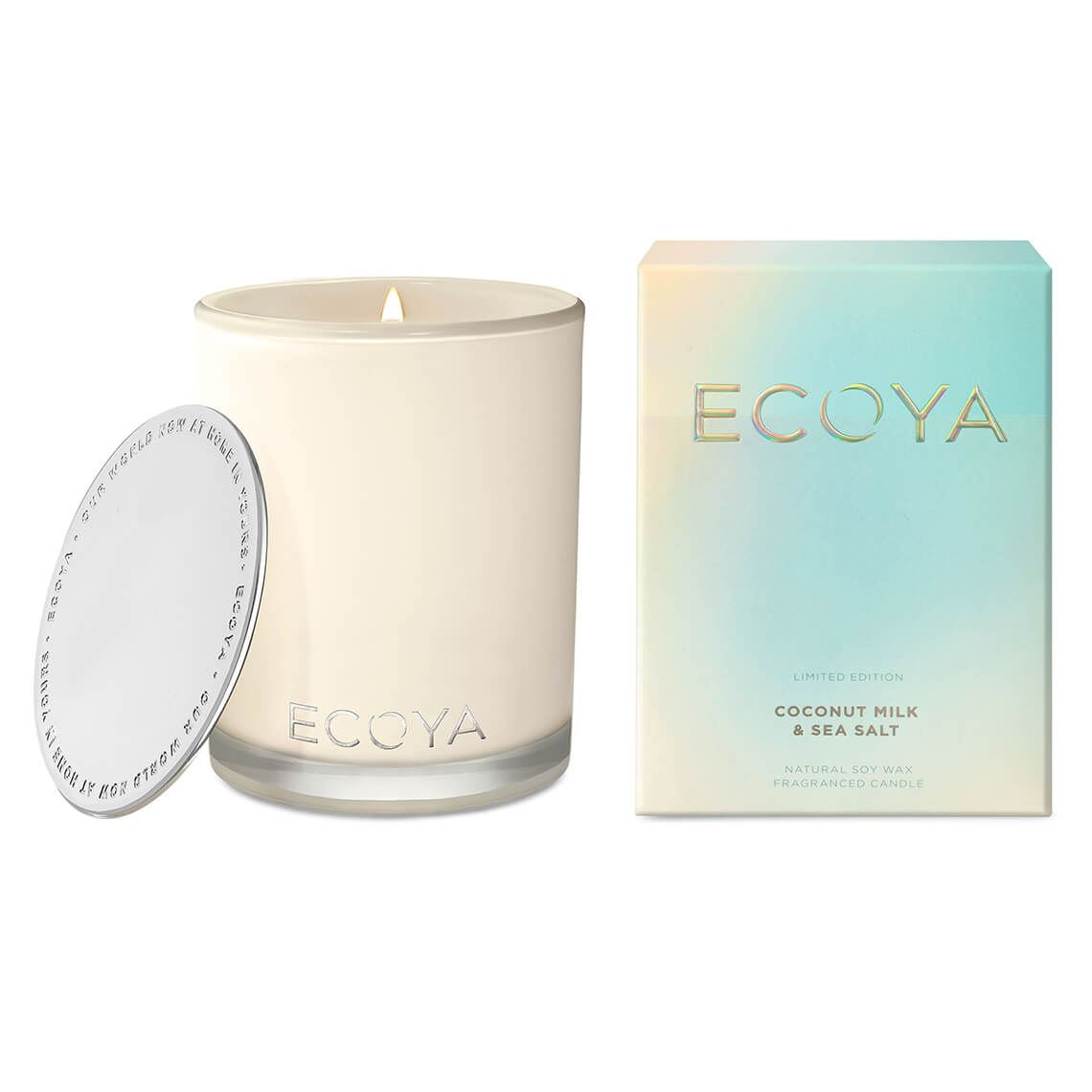 Ecoya Madison Jar Coconut Milk & Sea Salt Size W 10cm x D 10cm x H 14cm in Coconut Milk/Sea Salt Freedom