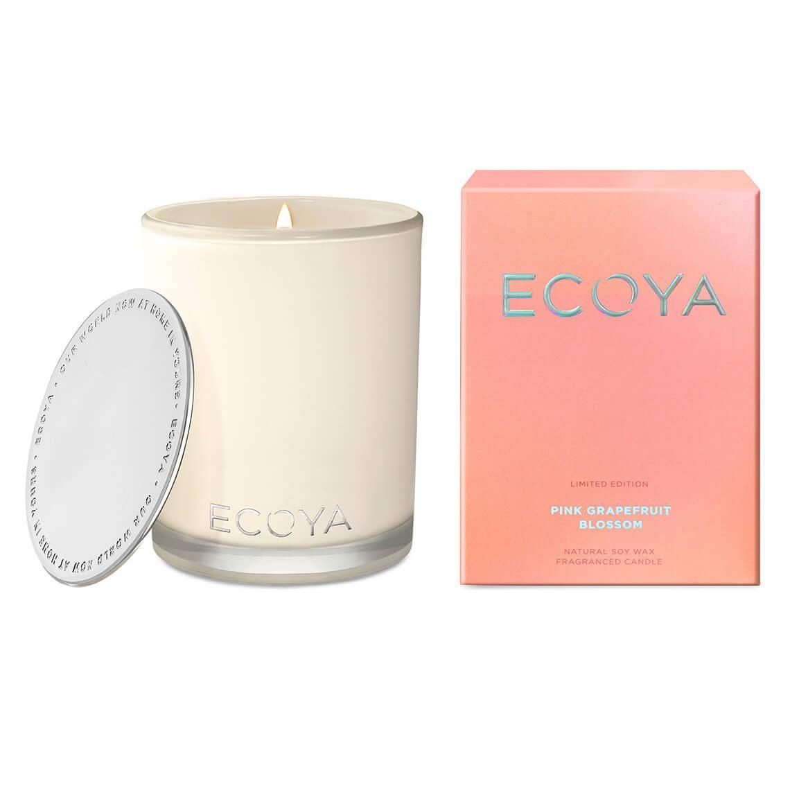 Ecoya Madison Jar Size W 10cm x D 10cm x H 14cm in Pink Grapefruit Blossom Freedom