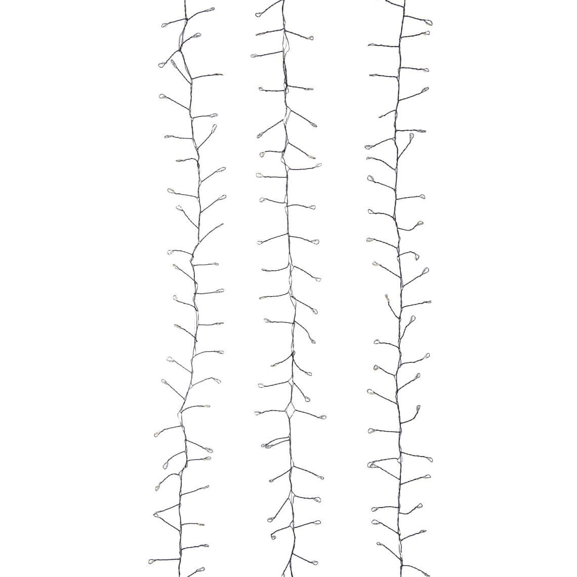 Blitzen String Lights Size W 130cm x D 7cm x H 7cm in Black Plastic/Metal Freedom