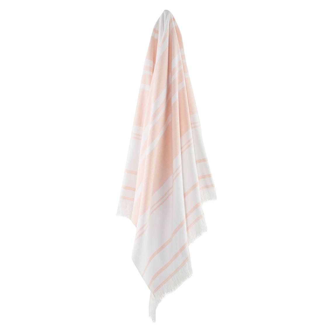 Bellagio Hammam Towel Size W 12cm x D 42cm x H 12cm in Soft Pink Freedom