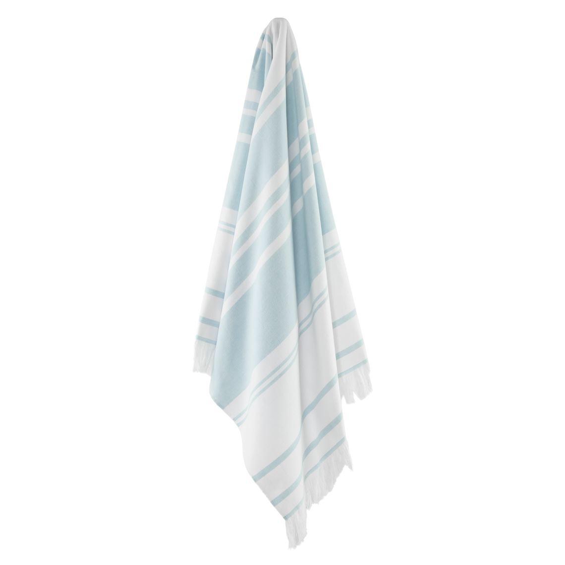 Bellagio Hammam Towel Size W 12cm x D 42cm x H 12cm in Light Blue Freedom