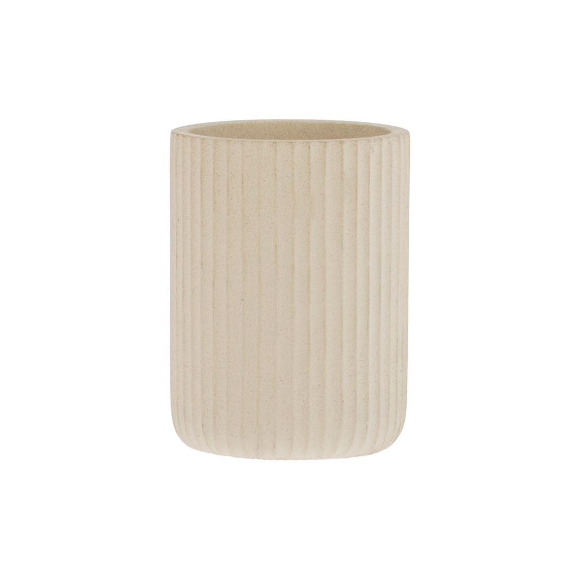 Marial Tumbler Size W 8cm x D 8cm x H 10cm in White Freedom