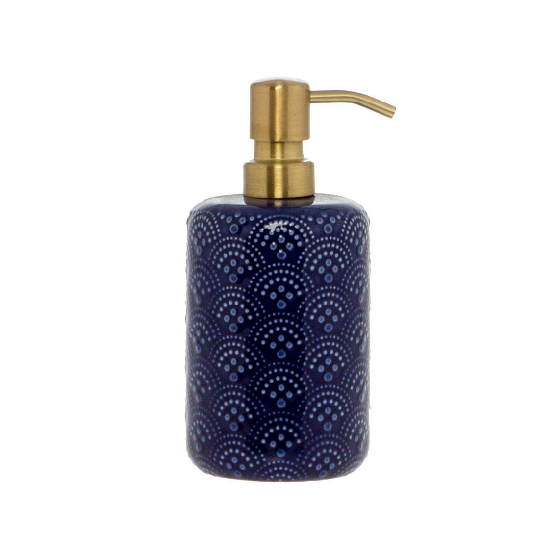 Anne Soap Dispenser Size W 8cm x D 8cm x H 18cm in Blue Freedom