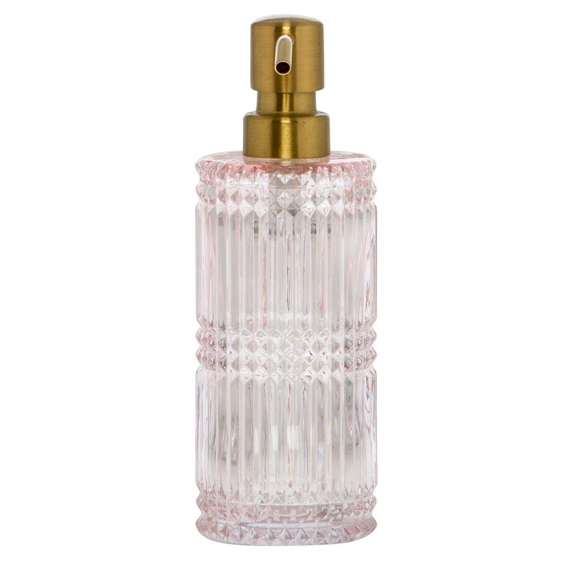 Mills Soap Dispenser Size W 7cm x D 7cm x H 19cm in Pink Freedom
