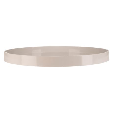 Basique Round Tray Size W 70cm x D 70cm x H 6cm in Light Grey Wood/Lacquer Freedom