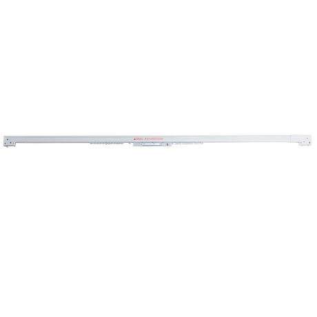 Accessory 230-400Cm Cord Draw Curtain Track Size W 4cm x D 5cm x H 225cm in White Metal Freedom