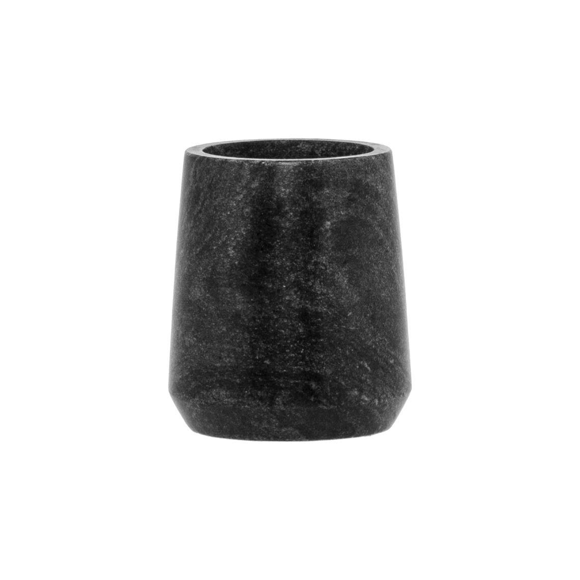 Marble Tumbler Size W 9cm x D 9cm x H 10cm in Black Freedom