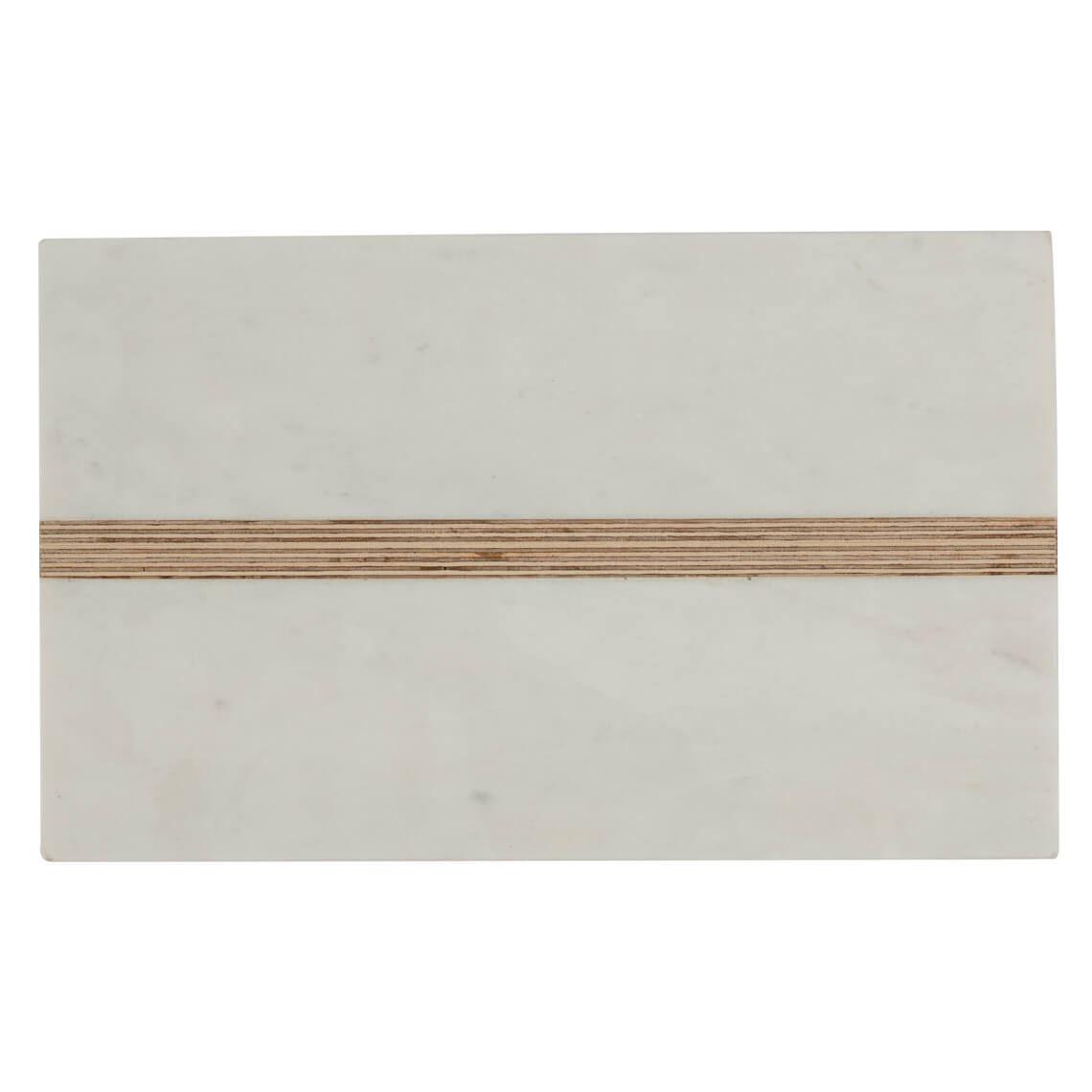 Marble Cheese Board Size W 20cm x D 33cm x H 2cm in White Freedom