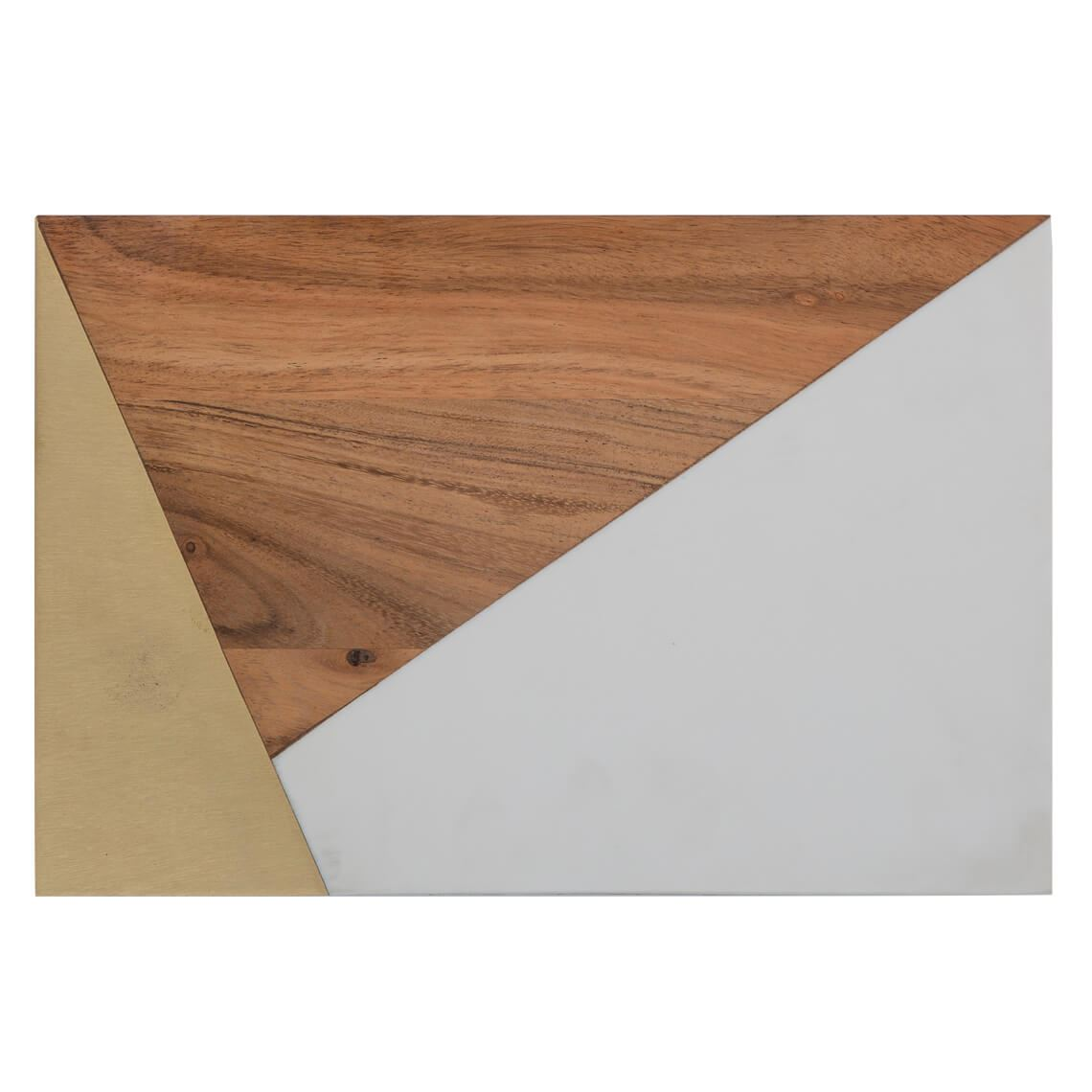 Triad Cheese Board Size W 20cm x D 31cm x H 2cm in White/Timber Freedom