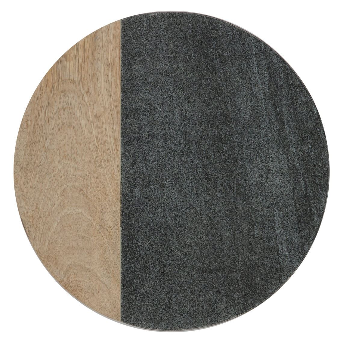 Marble Round Cheese Board Size W 30cm x D 30cm x H 2cm in Black Freedom