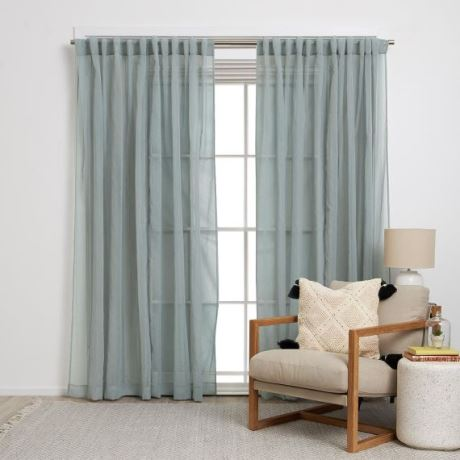 Vito Tab Curtain Size W 180cm x D 1cm x H 250cm in Bounty 100% Polyester Freedom