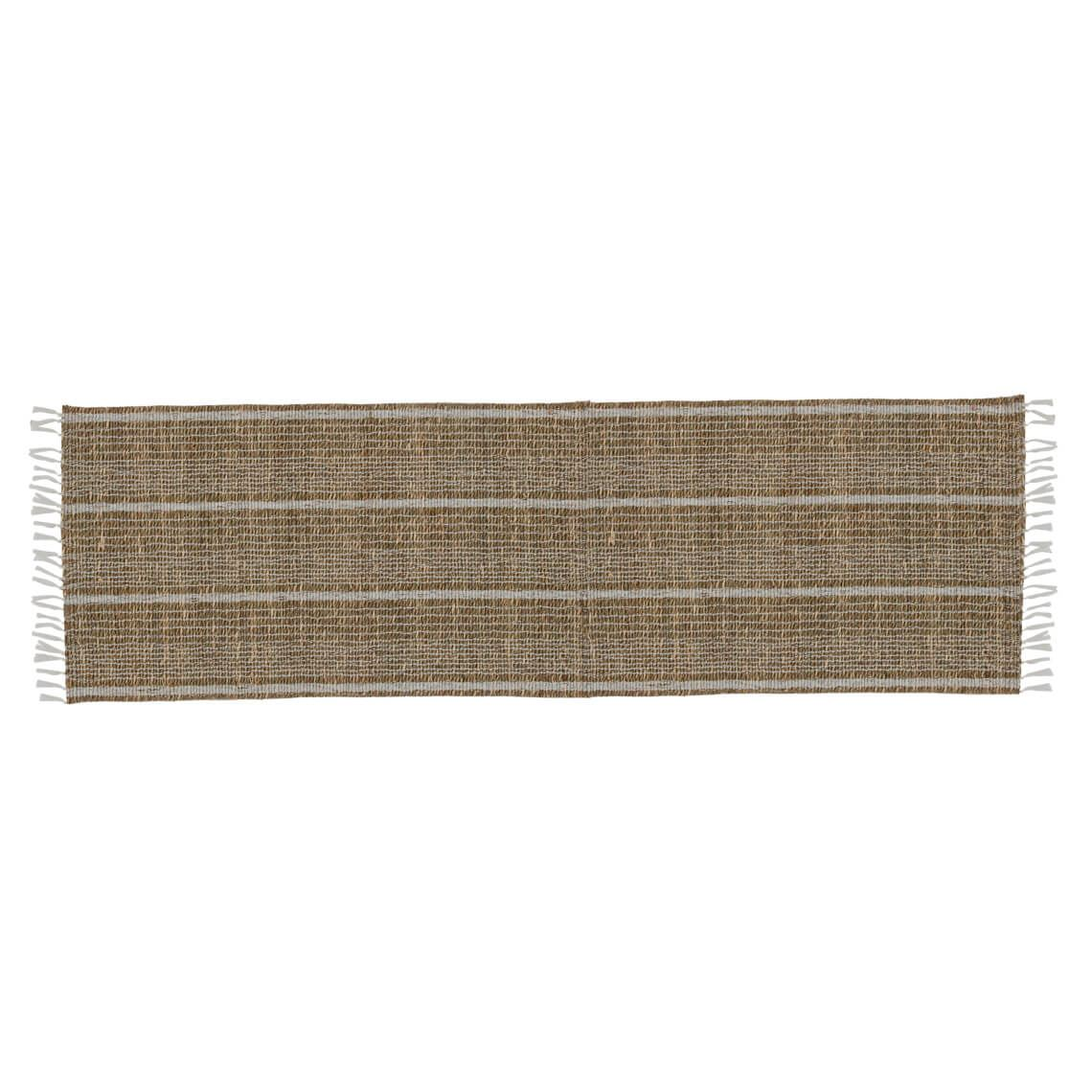 Tierney Table Runner Size W 35cm x D 120cm x H 1cm in Natural/White Freedom