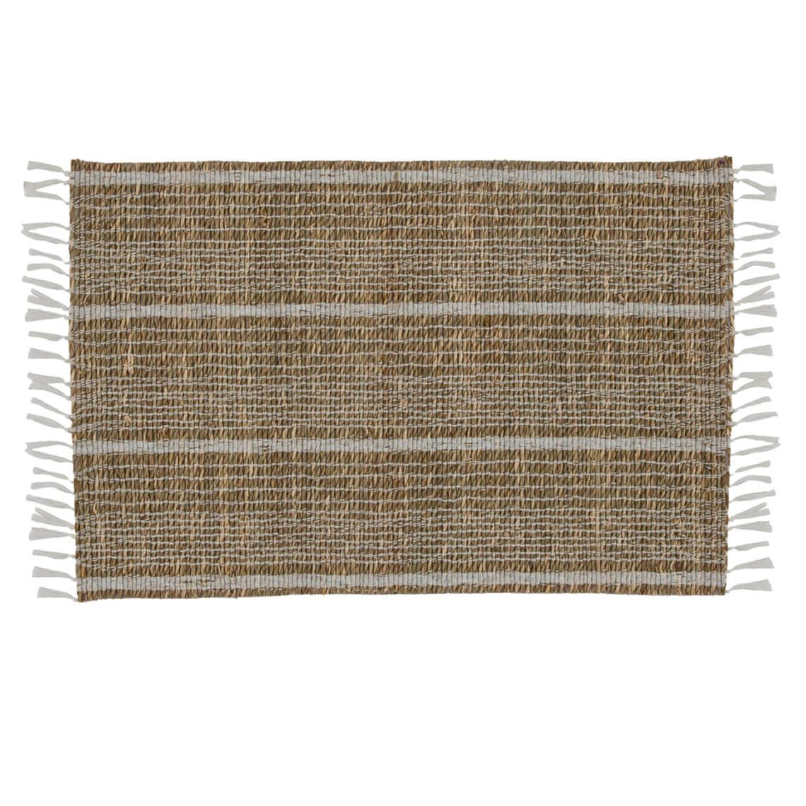 Tierney Placemat Size W 33cm x D 45cm x H 1cm in Natural/White Freedom