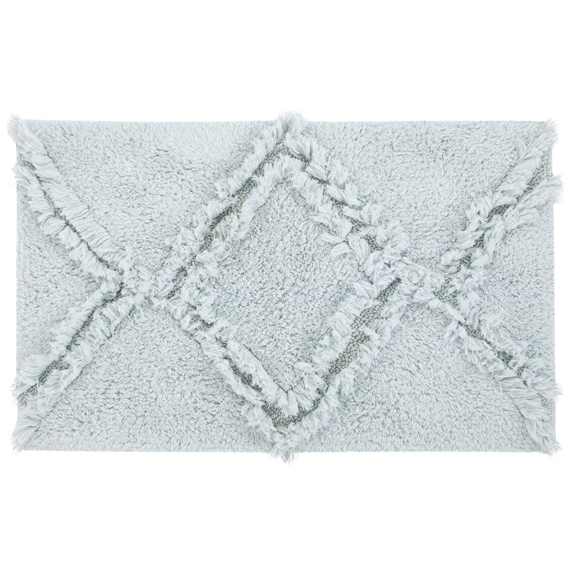 Kris Bathmat Size W 50cm x D 80cm x H 2cm in Light Blue 100% Cotton Freedom