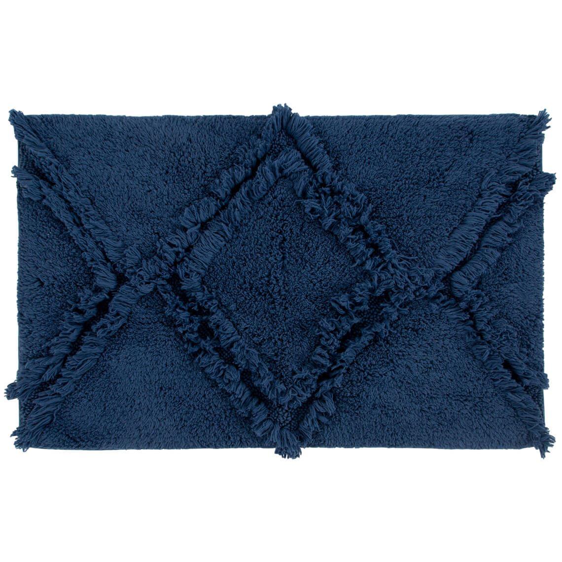 Kris Bathmat Size W 50cm x D 80cm x H 2cm in Blue 100% Cotton Freedom