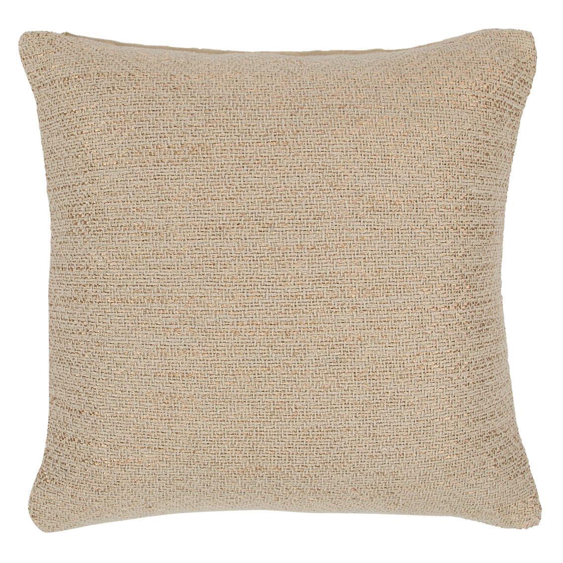 Artrifus Cushion Size W 50cm x D 50cm x H 10cm in Natural 50% Metallic 50% Cotton Freedom