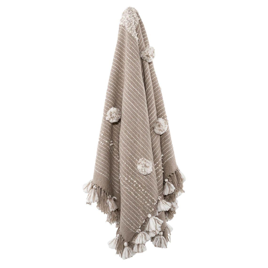 Ounni Throw Size W 34cm x D 46cm x H 7cm in Natural/Grey Freedom