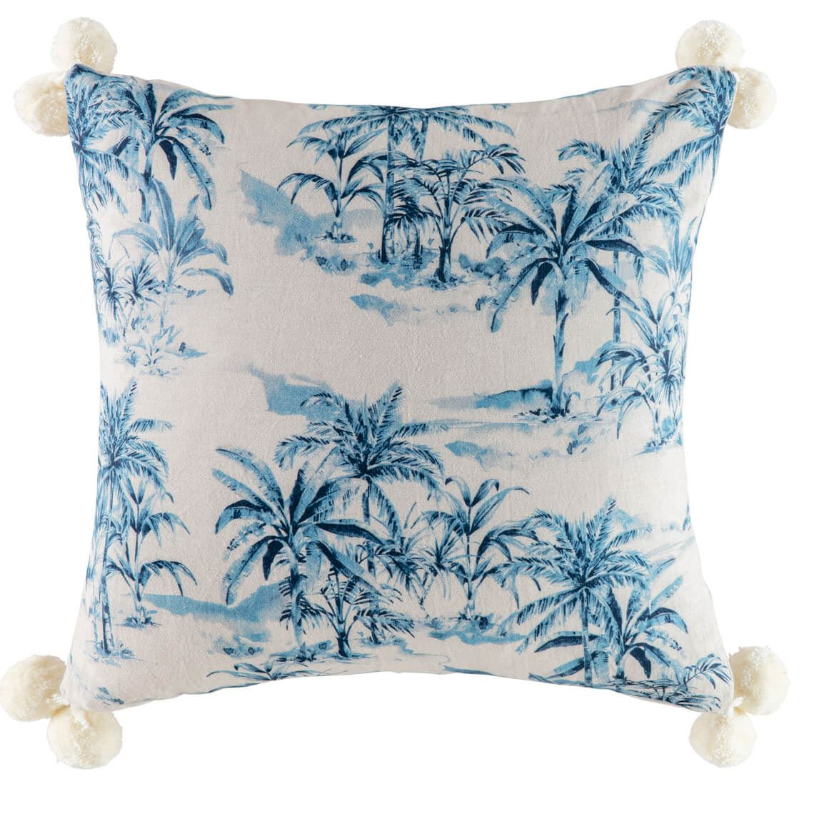 Pica Cushion, Size W 50cm x D 15cm x H 50cm in Natural/Blue Freedom