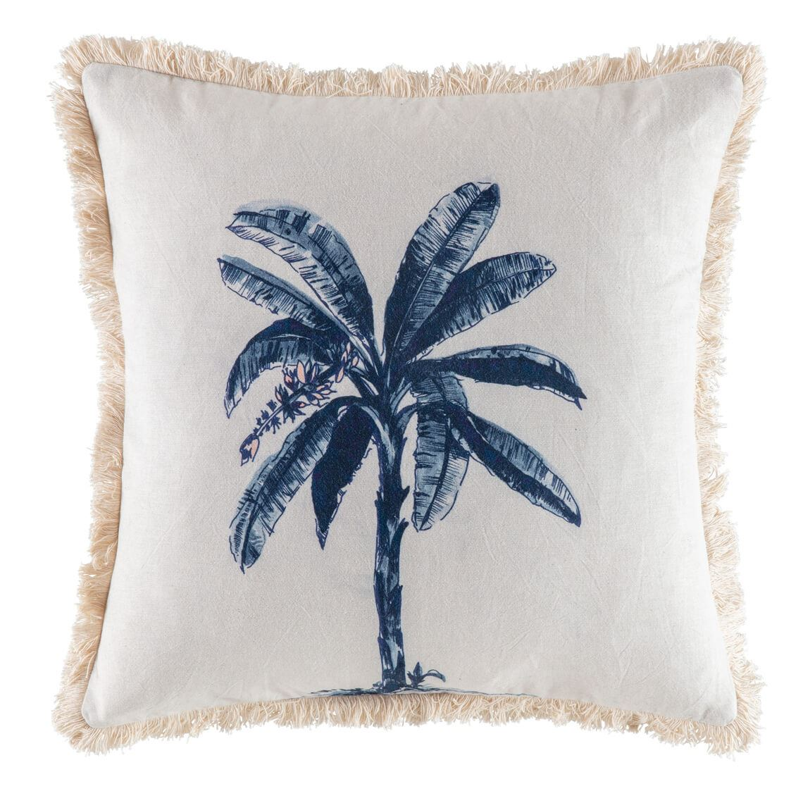 Hamaba Cushion, Size W 50cm x D 15cm x H 50cm in Natural/Blue Freedom