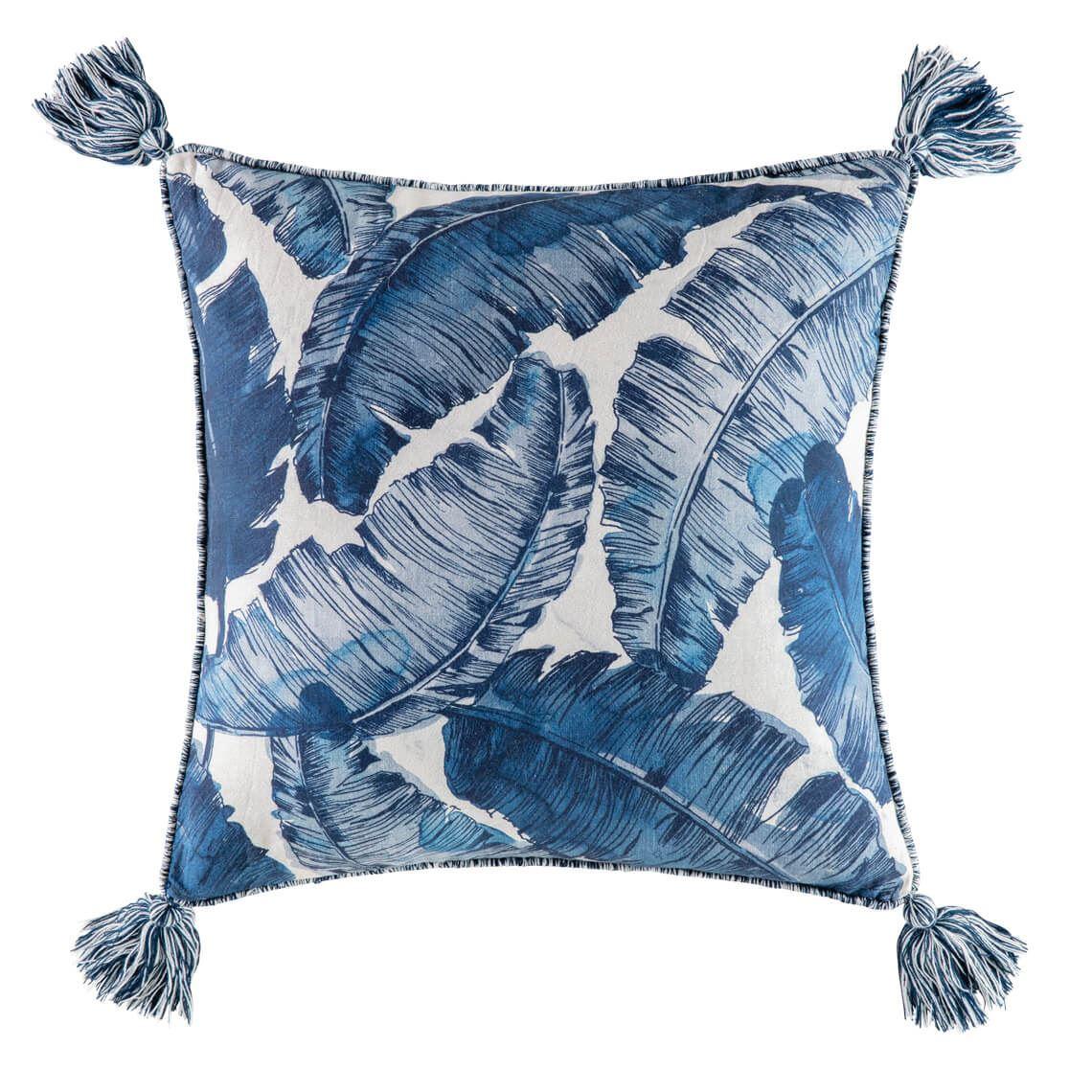 Bahna Cushion, Size W 50cm x D 15cm x H 50cm in Natural/Blue Freedom