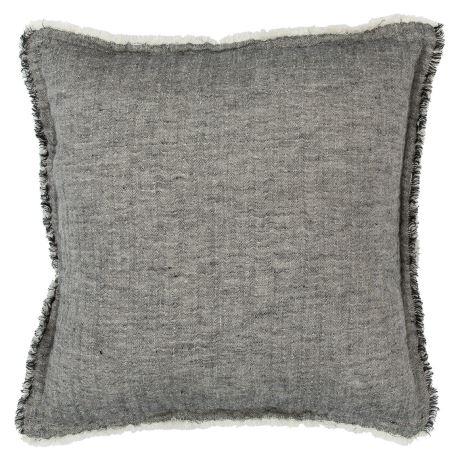 Clement Cushion Size W 50cm x D 50cm x H 10cm in Black/White Freedom