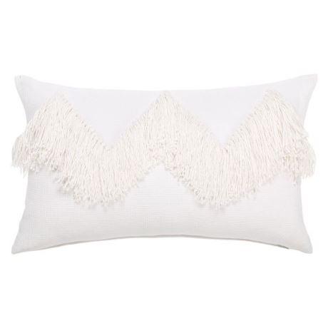 Priscilla Cushion Size W 30cm x D 50cm x H 10cm in White Freedom