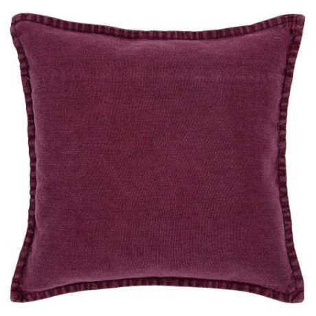 Kunis Cushion Size W 55cm x D 55cm x H 15cm in Wine Freedom
