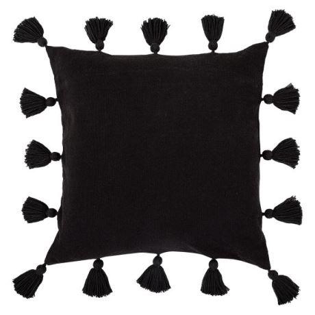 Presley Cushion Size W 50cm x D 50cm x H 10cm in Black Freedom