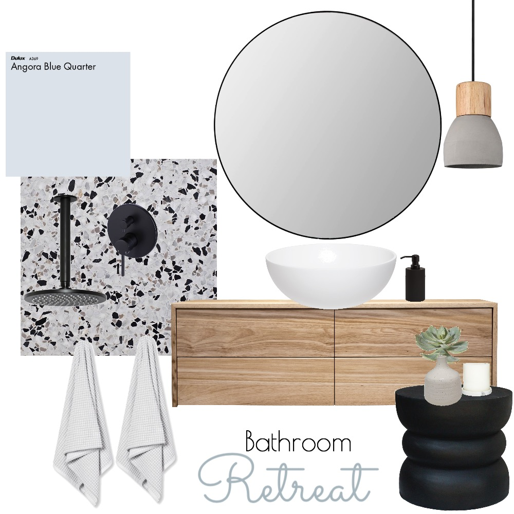 bathroom retreat Interior Design Mood Board by Autumn & Raine Interiors on Style Sourcebook