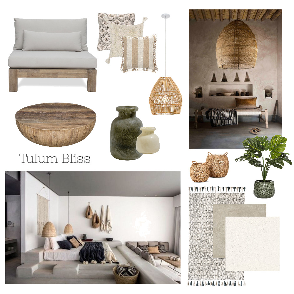 Tulum Bliss Interior Design Mood Board by Maria Manrique on Style Sourcebook