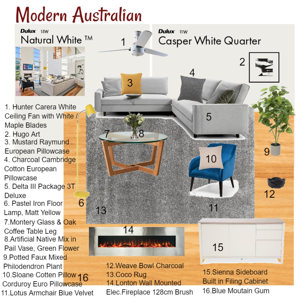M9_Modern Australian Interior Design Mood Board by Richard_IDI on Style Sourcebook