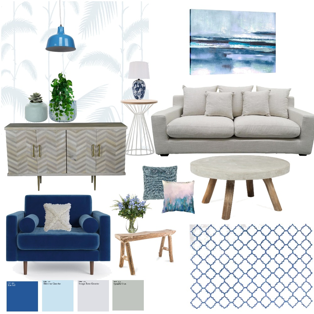 white&blue - יום העצמאות Interior Design Mood Board by meravkoren on Style Sourcebook