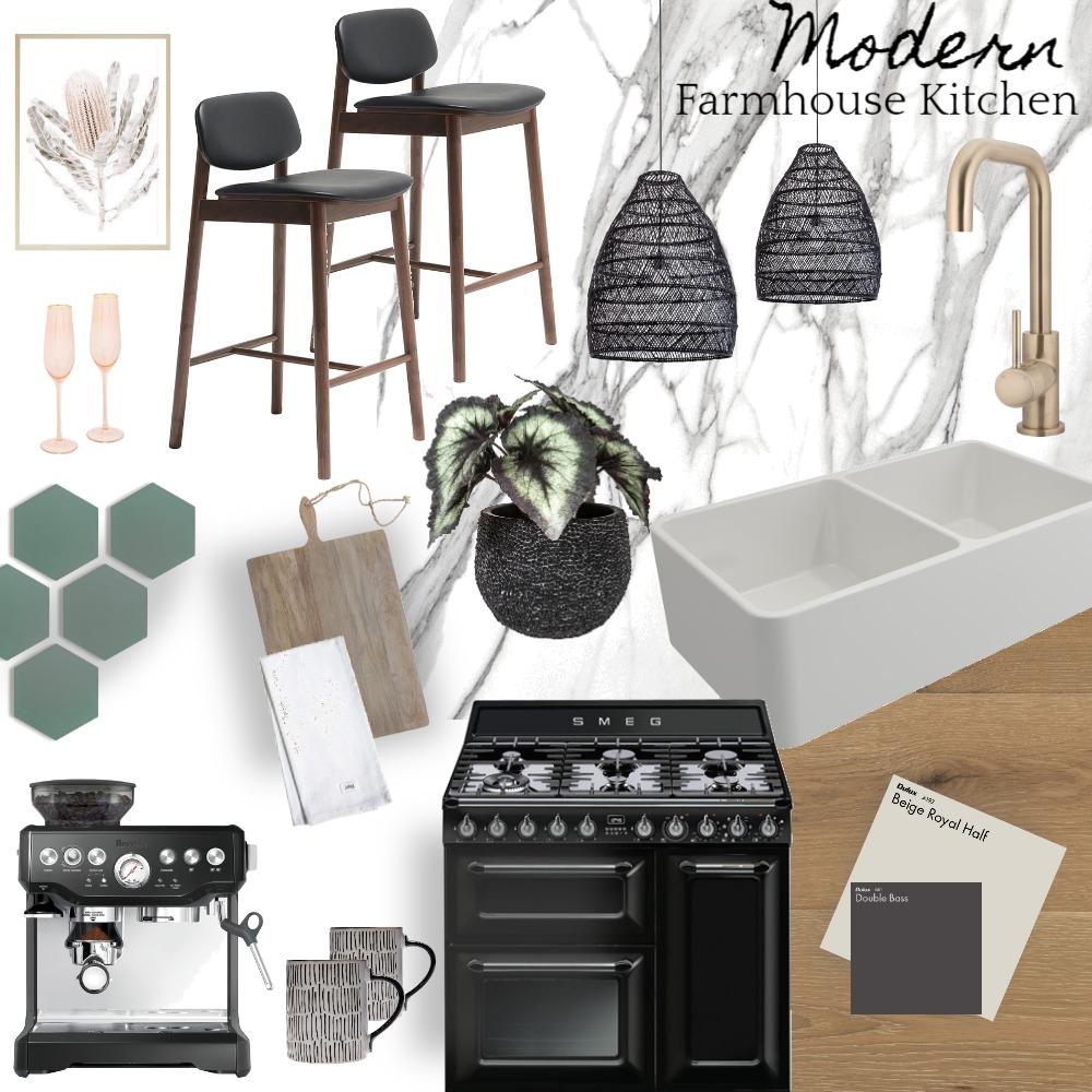 Modern Farmhouse Kitchen Interior Design Mood Board by NitaSA on Style Sourcebook