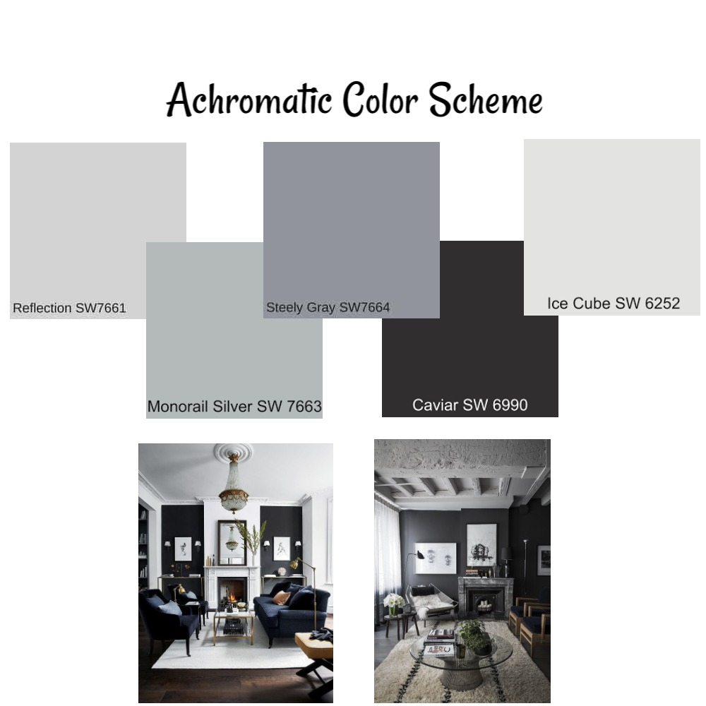 Achromatic Color Scheme Interior Design Mood Board By Katiexcx Style Sourcebook