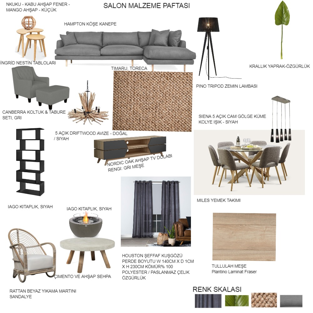 SALON MALZEME PAFTASI Interior Design Mood Board by agit on Style Sourcebook
