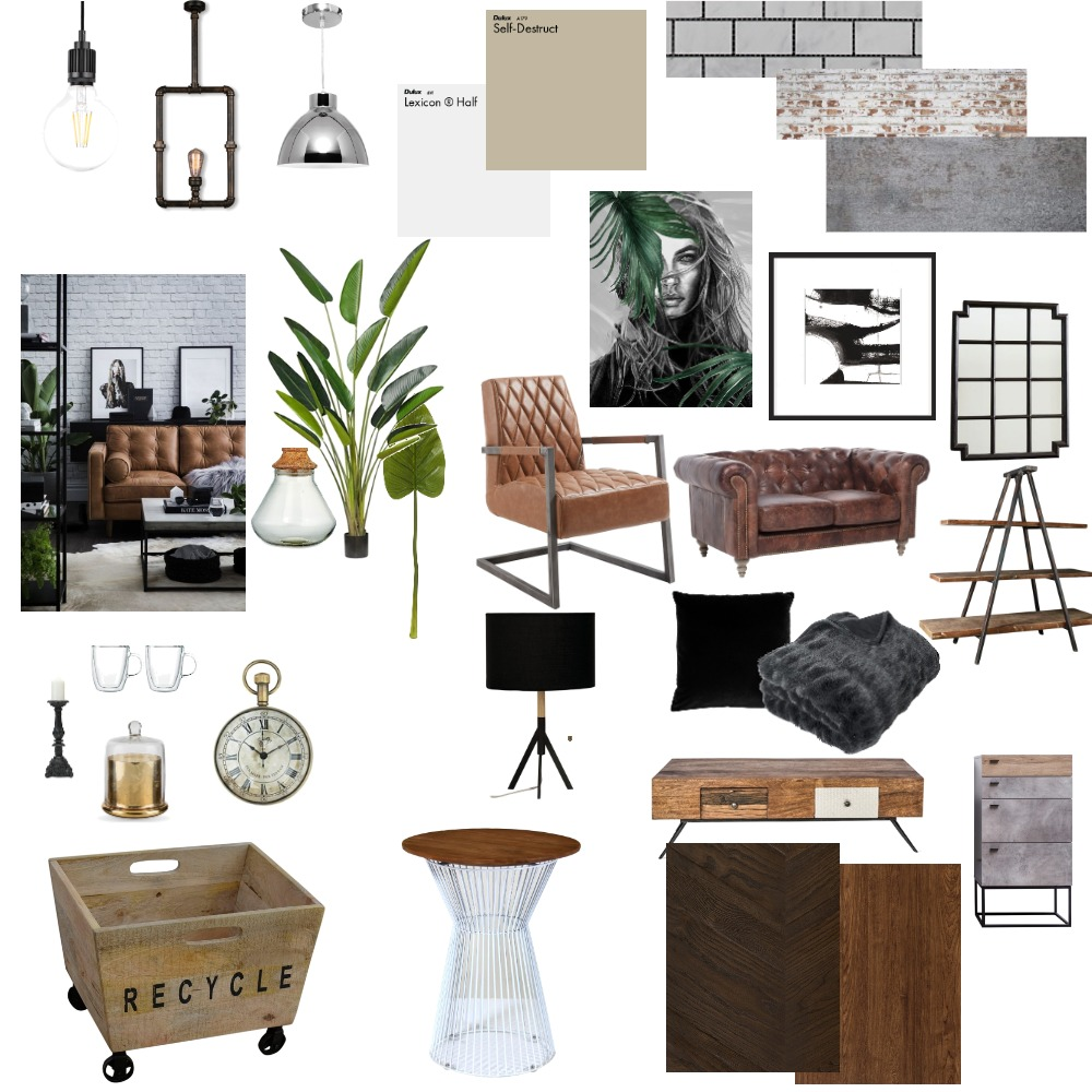 Industrial Interior Design Mood Board by Claudia Jane Brown on Style Sourcebook